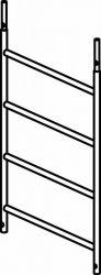 Zobrazit detail - Náhradní rám 4 příčky pro pojízdné lešení 7074