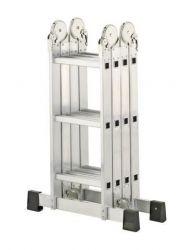 Kloubový žebřík profi 4x3 příčky s hliníkovou plošinou Hailo