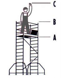 Hliníkové pojízdné lešení Hymer pro pracovní výšku 3,25 m