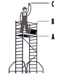 Hliníkové pojízdné lešení Hymer pro prac. výšku 5,25 m