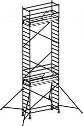 Hliníkové pojízdné lešení Hymer pro prac. výšku 8,25 m