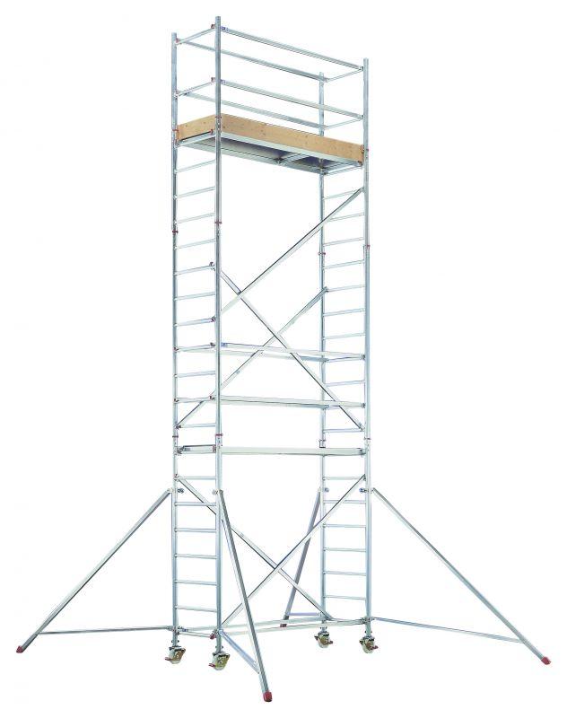 Hliníkové pojízdné lešení pro pracovní výšku 9,25 m Hymer