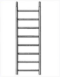 Náhradní rám 8 příček pro pojízdné lešení 7071