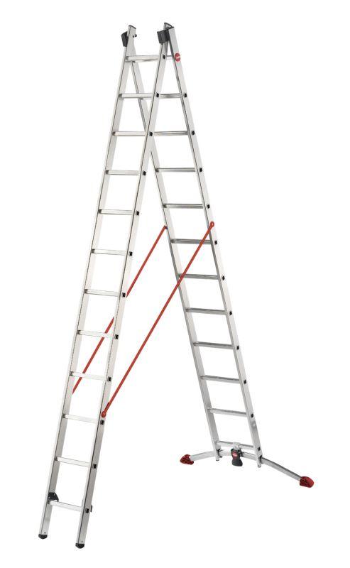 Štaflový žebřík profi 2x12 příček Hailo