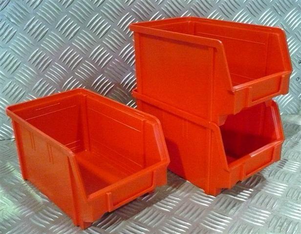 Plastový box na šroubky 103 červený