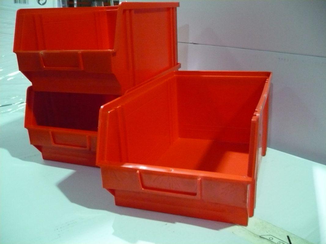 Plastový box na šroubky 104 červený