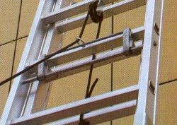 Výsuvný žebřík s lanem profi 2x19 příček ALPOS