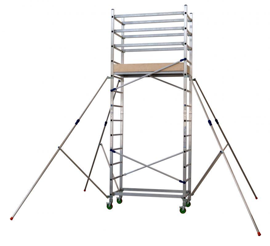 Hliníkové pojízdné lešení ALTO 1+2 pro prac. výšku 4,8 metru