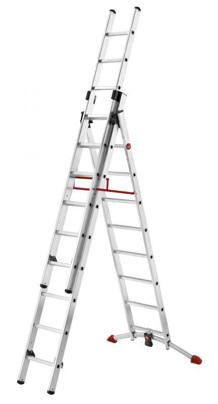 Hliníkový žebřík HAILO profi 2x9+8 příček s obloukovou patou