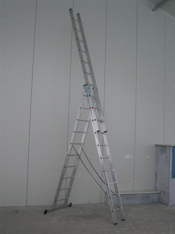 Hliníkový žebřík profi 3x10 Fintes