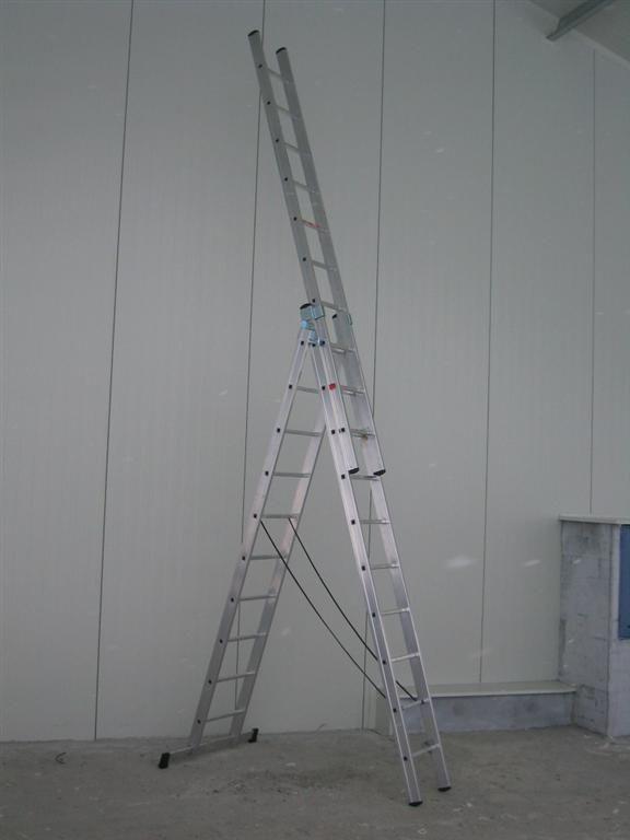 Hliníkový žebřík profi 3x12 Fintes