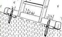 Hroty pro stabilizační patu žebříku - pár