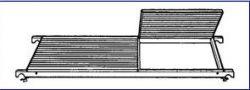Náhradní plošina k pojízdnému lešení 7074
