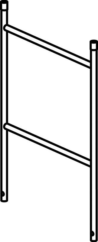 Zábradlí pro pojízdné hliníkové lešení Hymer 7074