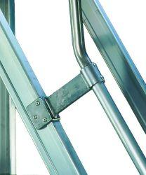 Pojízdné hliníkové schůdky FACAL 13 nášlapů + plošinka