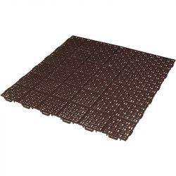 Plastová rohož Marte 563x563 mm - hnědá