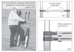 Teleskopické štafle G21 2x8 příček + pracovní rukavice zdarma