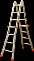 Teleskopický žebřík FINTES profi 4x4 příčky