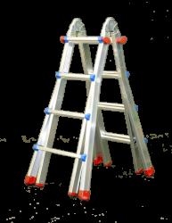 Teleskopický žebřík profi 4x4 příčky Fintes