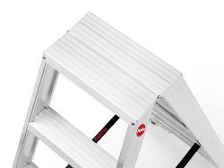 Hliníkové štafle Hailo 2x7 nosnost 250 kg