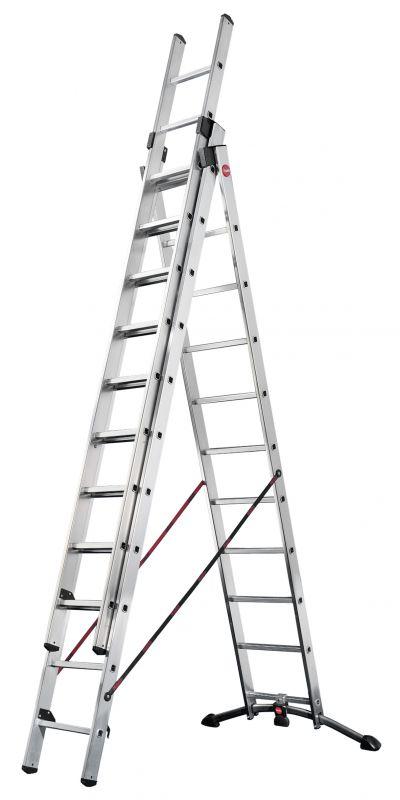 Hliníkový žebřík HAILO profi 3x11 příček II.jakost