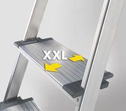Hliníkové schůdky HAILO S150 XXL 3+1 příčka