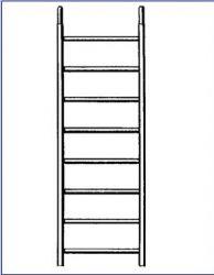 Náhradní rám k lešení AL 700 8 příček II.jakost