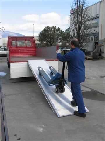 Hliníková nájezdová rampa šířka 750 mm, 1000 kg