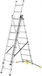 Hliníkový žebřík HAILO HobbyLot 2x8+9 příček s obloukovou patou