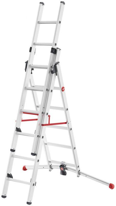 Hliníkový žebřík HAILO profi 2x6+5 příček s obloukovou patou