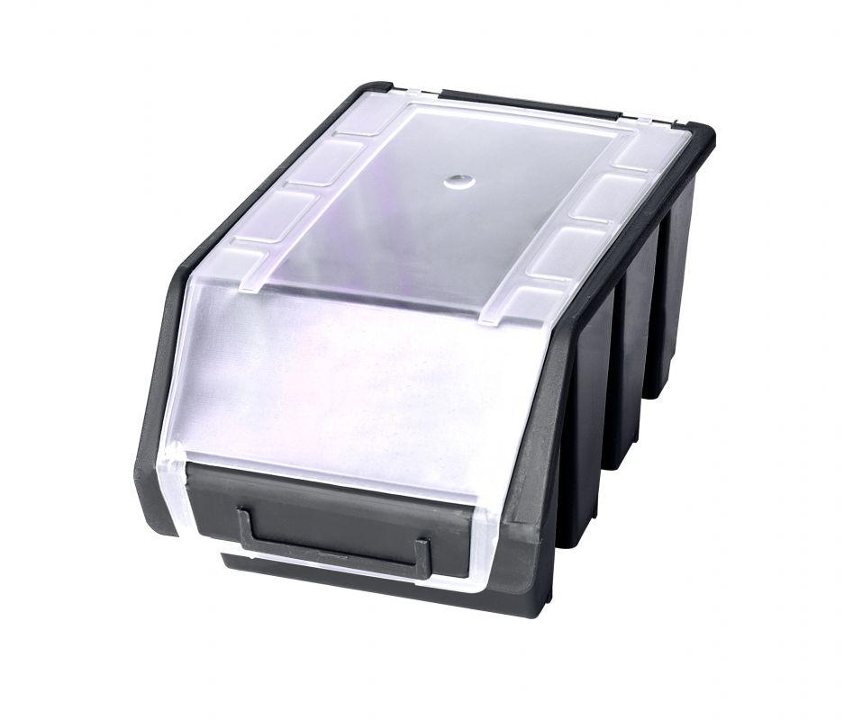 Plastový box na šroubky PATROL ERGOBOX 3 - intermediate - černý s víkem