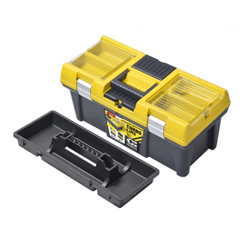 Plastový box na nářadí PATROL STUF 20 CARBO 525x256x246 mm