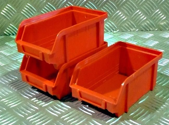 Plastový box na šroubky ARTPLAST 101 - červený