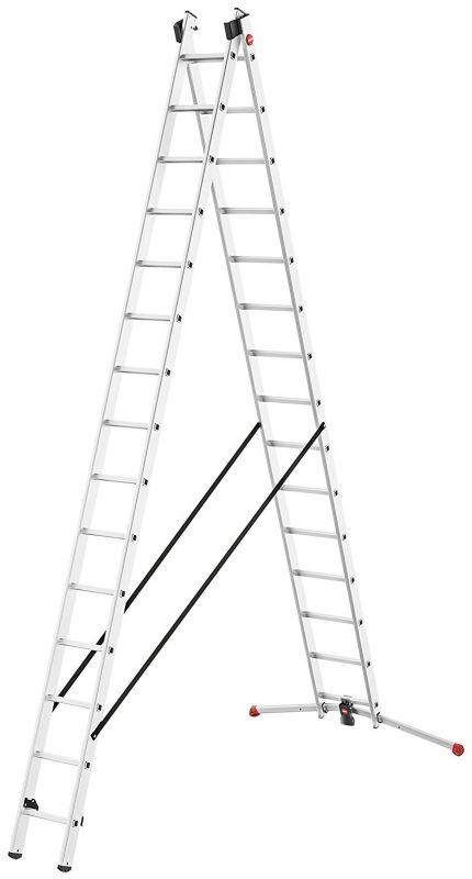 Štaflový žebřík profi Hailo 2x15 příček