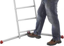Štaflový žebřík profi Hailo 2x15 příček + zdarma hliníkové schůdky
