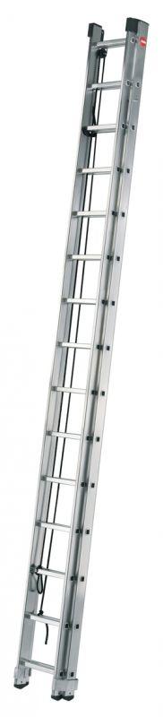 Výsuvný žebřík s lanem 2x15 příček Hailo