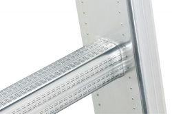Výsuvný žebřík s lanem 2x18 příček Hailo