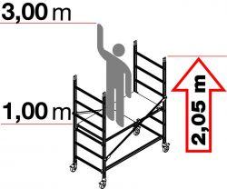 Hliníkové pojízdné lešení ALTO 1 sklapovací - 3 metry