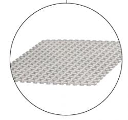 Plastová dlažba Tenax white bubble 500x500 mm