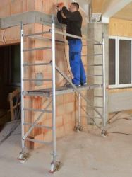 Hliníkové pojízdné lešení Hymer pro prac. výšku 3,25 m