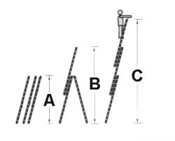 Hliníkový žebřík HAILO profi 3x12 příček s oblouk. patou + schůdky Hailo