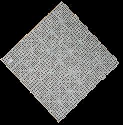 Plastová rohož Marte 563x563 mm - světle šedá