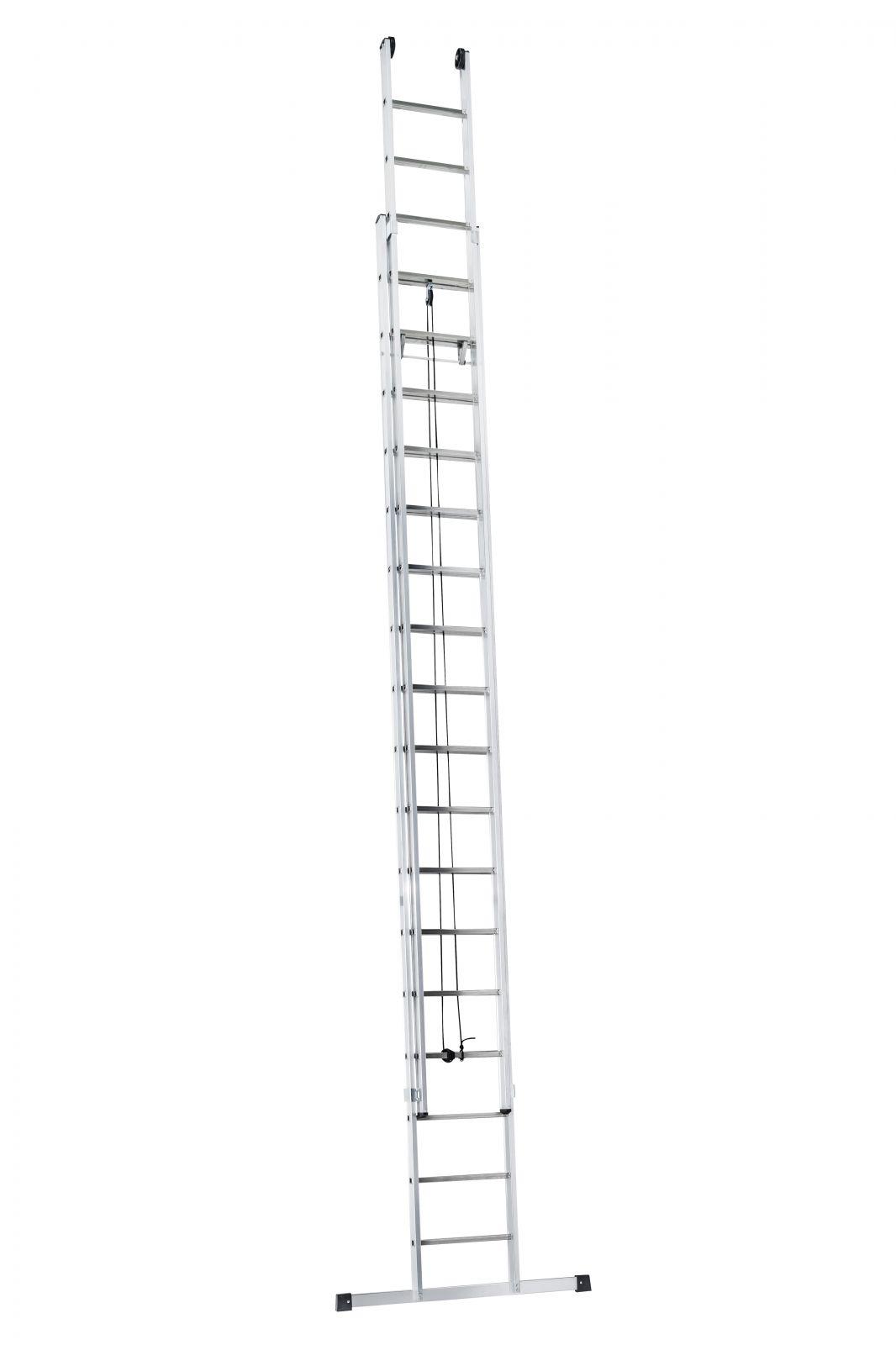 Výsuvný žebřík s lanem Alpos profi 2x19 příček